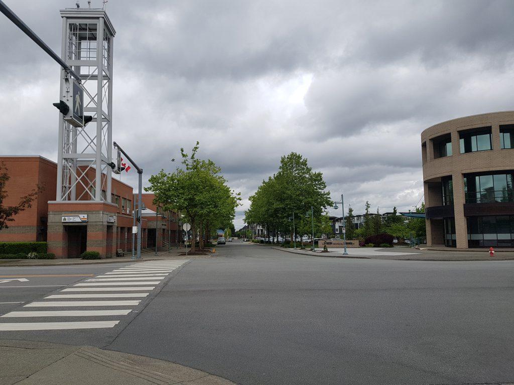 future site of RCMP Rainbow Sidewalk
