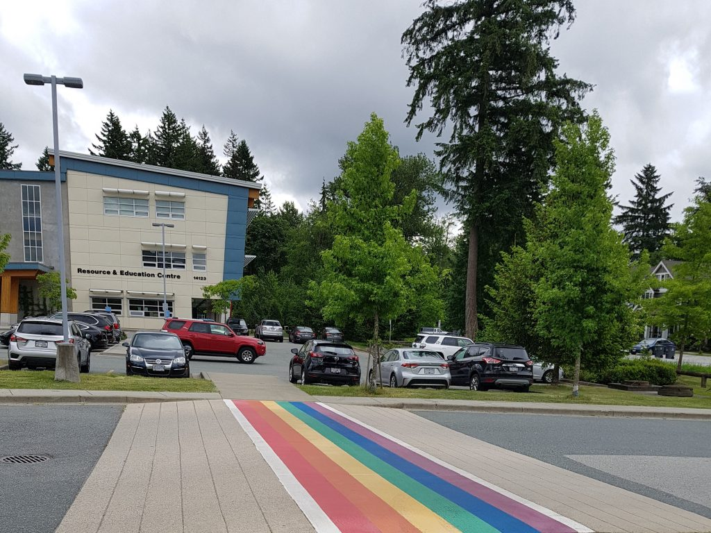 Surrey Schoolboard Rainbow Crosswalk